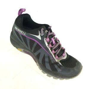 Merrell Women's Hiking Shoes US 5.5 Siren Edge Black Purple Waterproof Lace-Up