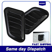2Pack Auto Decorative Air Flow Intake Scoop Turbo Bonnet Vent Cover Hood Fender