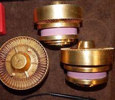 3 PIECES (TRIO) RCA TYPE# 7214 GOLD CERAMIC LARGE POWER AMPLIFIER TETRODE TUBES
