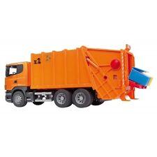Bruder Scania R-Serie Müll-LKW orange 03560 Nutzfahrzeug, Spielzeugauto,