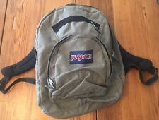 Gently Used Jansport KHAKI GREEN Canvas Backpack