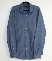 Hugo Boss Men's Long Sleeve Button Up Blue Shirt Size XL