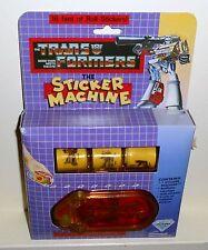 1984 Vintage Transformers Sticker Machine 172 STICKERS MIP NEW IN BOX