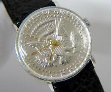 New Vintage Mens Half Dollar Coin Watch