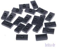 LEGO - 20 x Konverter - Platte 1x2 schwarz / Black Jumper / 15573 NEUWARE