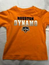 MLS Houston Dynamo Boy's Logo Shirts - Various Sizes - Orange - C355