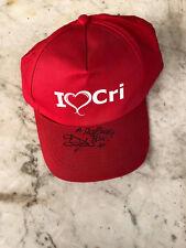 cristina d'avena cappellino - gadget rarissimo - ufficiale - fuori commercio