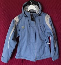 Rossignol Unisex Ski Jacket Hoodie Blue Double Closure Size XS Insulated Outdoor