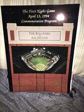 MLB Texas Rangers Program First NIGHT Game The Ballpark In Arlington