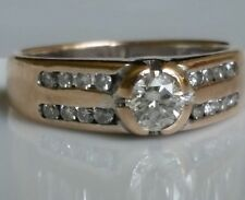 Estate Ring 18k Yellow Gold Shiny Natural  Diamonds  Total 0.75 Ct