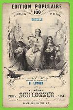 Partition ancienne Old Sheet music XIX B LUTGEN - SCHLOSSER ESTELLE illustré