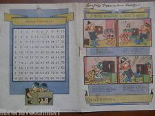 Vecchio quaderno scolastico di scuola epoca LE NUOVE AVVENTURE DI MICCO E MACCO