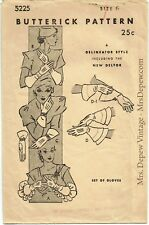 Vintage Sewing Pattern 1930s Ladies' Gloves in 5 versions Butterick 5225 Size 6