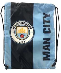 MANCHESTER CITY Cinch Sling Backpack Mochila Book Bag Gym drawstring Sack Soccer