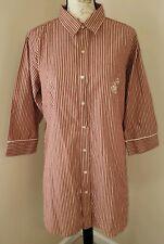 Lauren Ralph Lauren Size S/M Red Night Shirt Stripe Sleep Shirt Night Gown (BH)