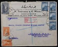 Turkey Commercial Registered Cover, 1928 from Istanbul, Galata E to London GB