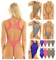 Women Adults Bodysuit Sheer Catsuit Lingerie Jumpsuit High Cut Romper Nightwear