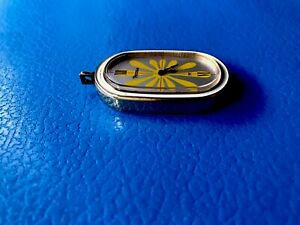 RARE VINTAGE PICCOLO PENDANT GOLD TONE MECHANICAL WATCH