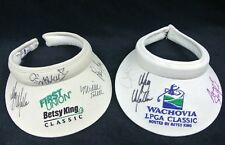 2- Betsy King LPGA Classic Autographed Signed Hats - Angela Stafford Lorie Kane