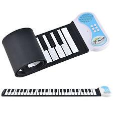 in.tec® Rollpiano E-Piano Keyboard Kinder Klavier Rollbar Silikon Roll Up Piano