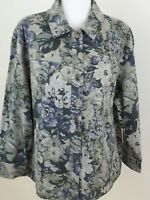 WESTBOUND-Women's Plus Size 3X-Gray/Green Multi-Color Lightweight Jacket NWOT.