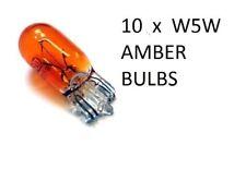 W5W Amber Bulb T10 Amber Orange Side Light Capless 12v standard Car Bulbs x 10