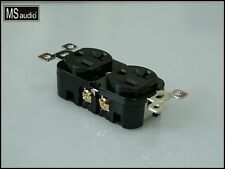 MS Audio Rhodium Plated US Type Audio Power Receptacle -- 20A / 125~250Vac