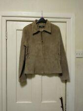 Ladies Leather Craft Genuine Suede Jacket Size 12
