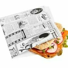 More details for 250 greaseproof two sides open paper bag burger kebab parchment