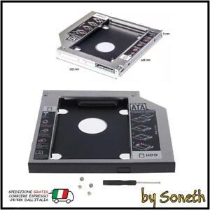 BOX ADATTATORE PER HARD DISK HD SSD CADDY FRAME PER NOTEBOOK SATA 3 DVD CD ROM