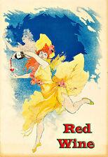 Vin Mariani vin rouge boire de l'Alcool Boissons Pub Bar Chic Deco Poster Print