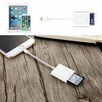 USB SD Card Camera Reader Photo Adapter Data Transfer For iPhone 8/7/6 Plus