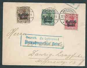 POLAND GERMANY RUSSIA 1915 OCCUPATION COVER INTERESTING!