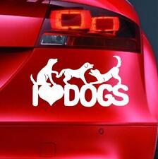 I LOVE DOGS Sticker Funny Car Window Bumper VAN JDM BIKE 4x4 Novelty Vinyl Decal