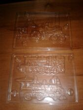 2 Train, Steam Engine Chocolate Candy Molds