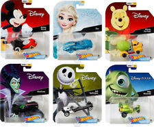 Walt Disney Character Cars 6 Autos Mickey Elsa Winnie 1:64 Hot Wheels DMH73