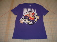 DC Comics Superman Invincible MEDIUM WOMENS GIRL JRS TEE TOP Tshirt CLARK KENT