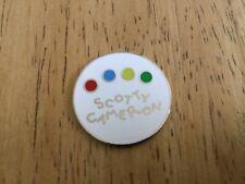 SCOTTY CAMERON Golf Ball Marker Red Blue Green Yellow DOTS Logo NEW Mint