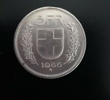 Moneta argento Svizzera del 1966