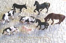 48 Stück Spur HO bemalte Bauernhoftiere (8 verschiedene Posen) #B