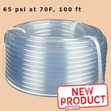 Clear Plastic Tubing 100 Feet Roll 18 Inside Dia X 14 Outside Dia Flexible
