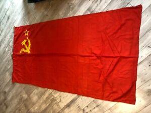 Rare !!!!  Socialist USSR Flag Navy Fleet Original Wool Soviet Very big size