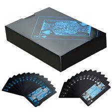 hot!55Pcs Deck Poker Waterproof Plastic PVC Set Playing Cards Pure Black Regular