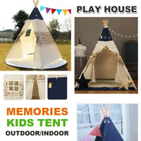 WIGWAM Large Children's Kids Play Tent Teepee Tipi Cotton Camping Outdoor Indoor