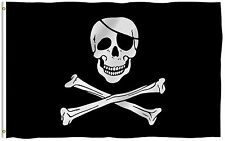 Anley Skull Cross Bones Pirate Flag Jolly Roger Banner Polyester 3x5 Foot Flags