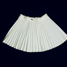 Vintage 80s IZOD LACOSTE Womens White Pleated Tennis Skirt - Size 14