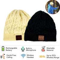 Warm Beanie Hat Wireless Bluetooth Knitted Cap with Headset Headphone Speaker