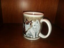 Kitty City Revelations Cat Ceramic Coffee Mug Cup Siamese Snowshoe Calico
