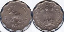 India 1954 1 Anna (Bull Coin) KM-3.2 CU-NI Mumbai Mint BUNC - US Seller