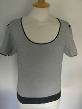 Hobbs Ladies Striped Short Sleeve Top Size M. Good Condition.
